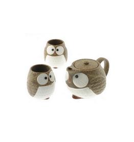 Brown Owl Tea Set