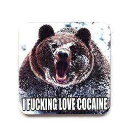 I Fucking Love Cocaine Coaster
