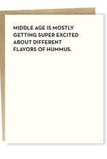 Excited About Hummus Greeting Card