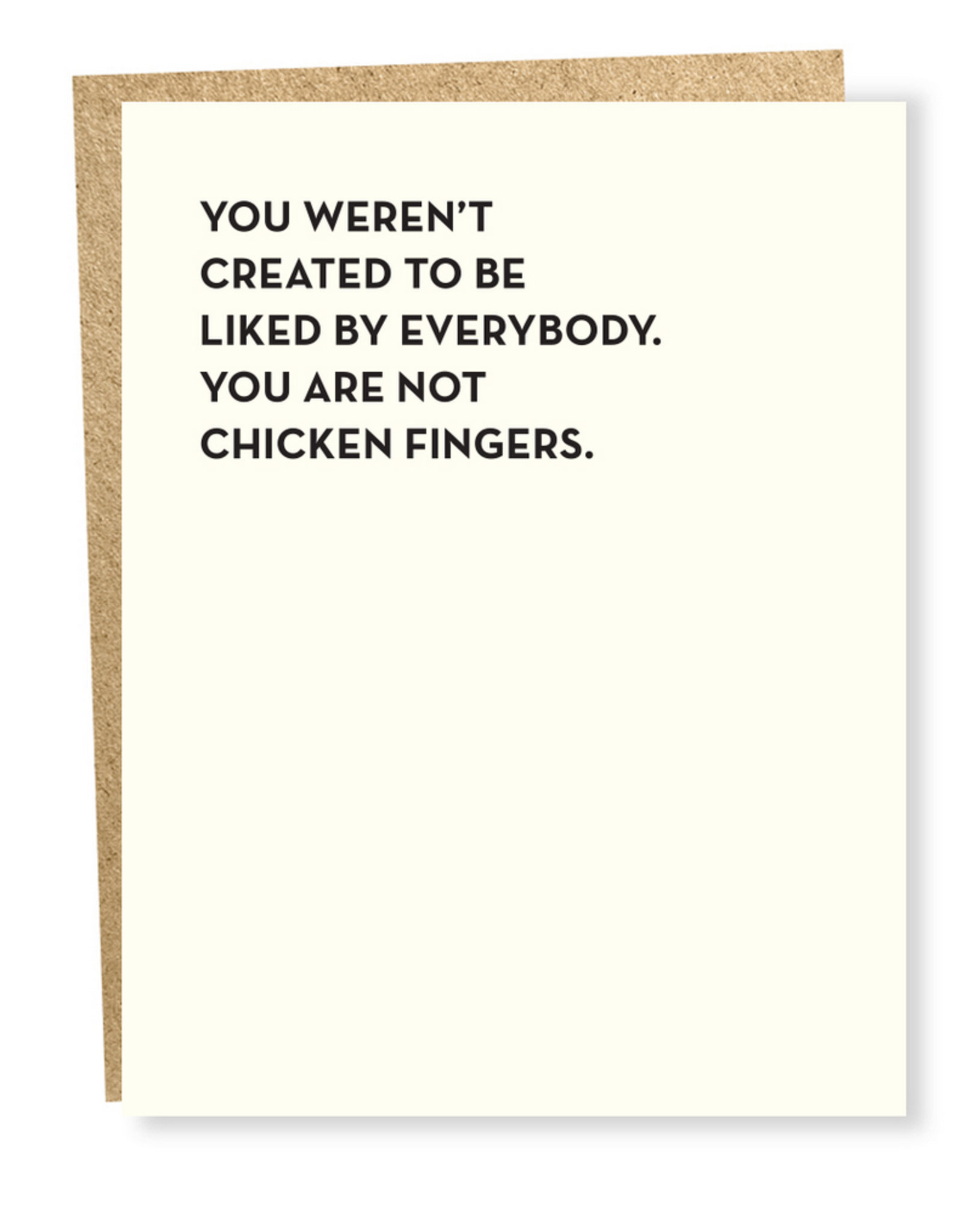 You Are Not Chicken Fingers Greeting Card