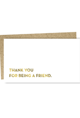 Thank You For Being a Friend Enclosure Card