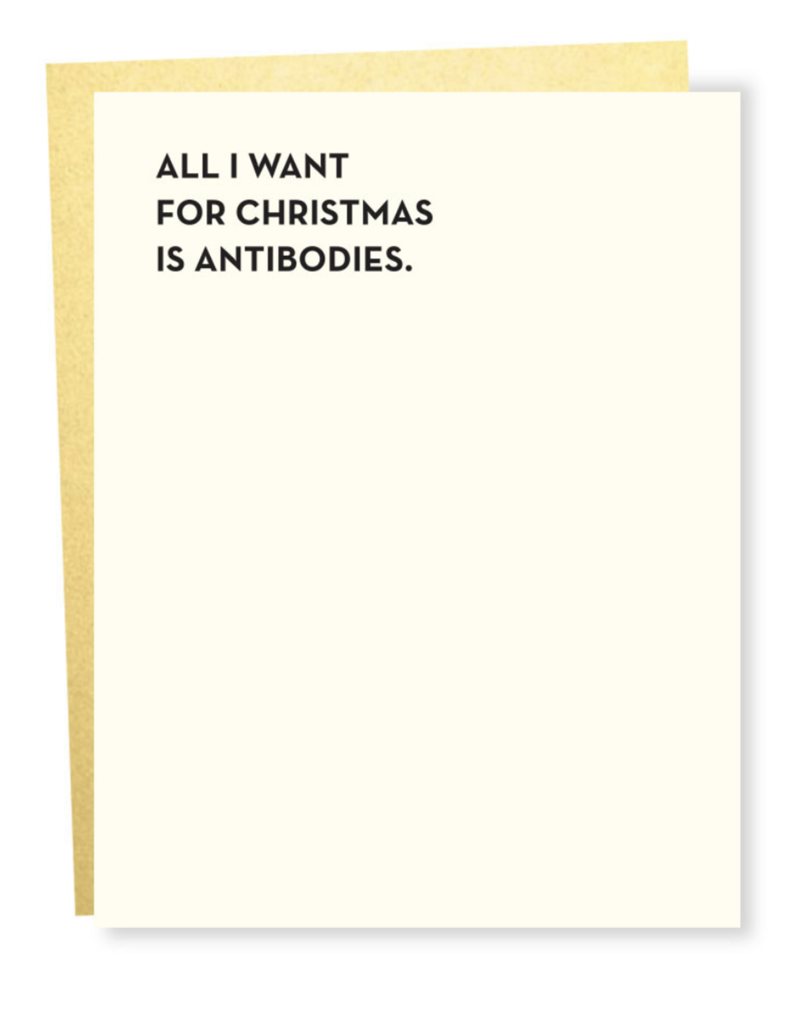 All I Want For Christmas is Antibodies Greeting Card