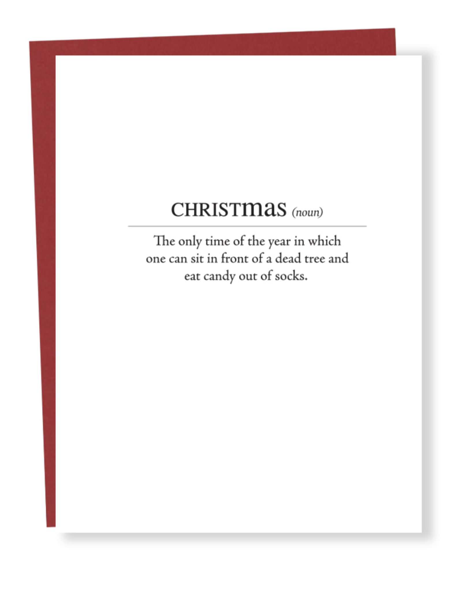 Christmas Definition Greeting Card
