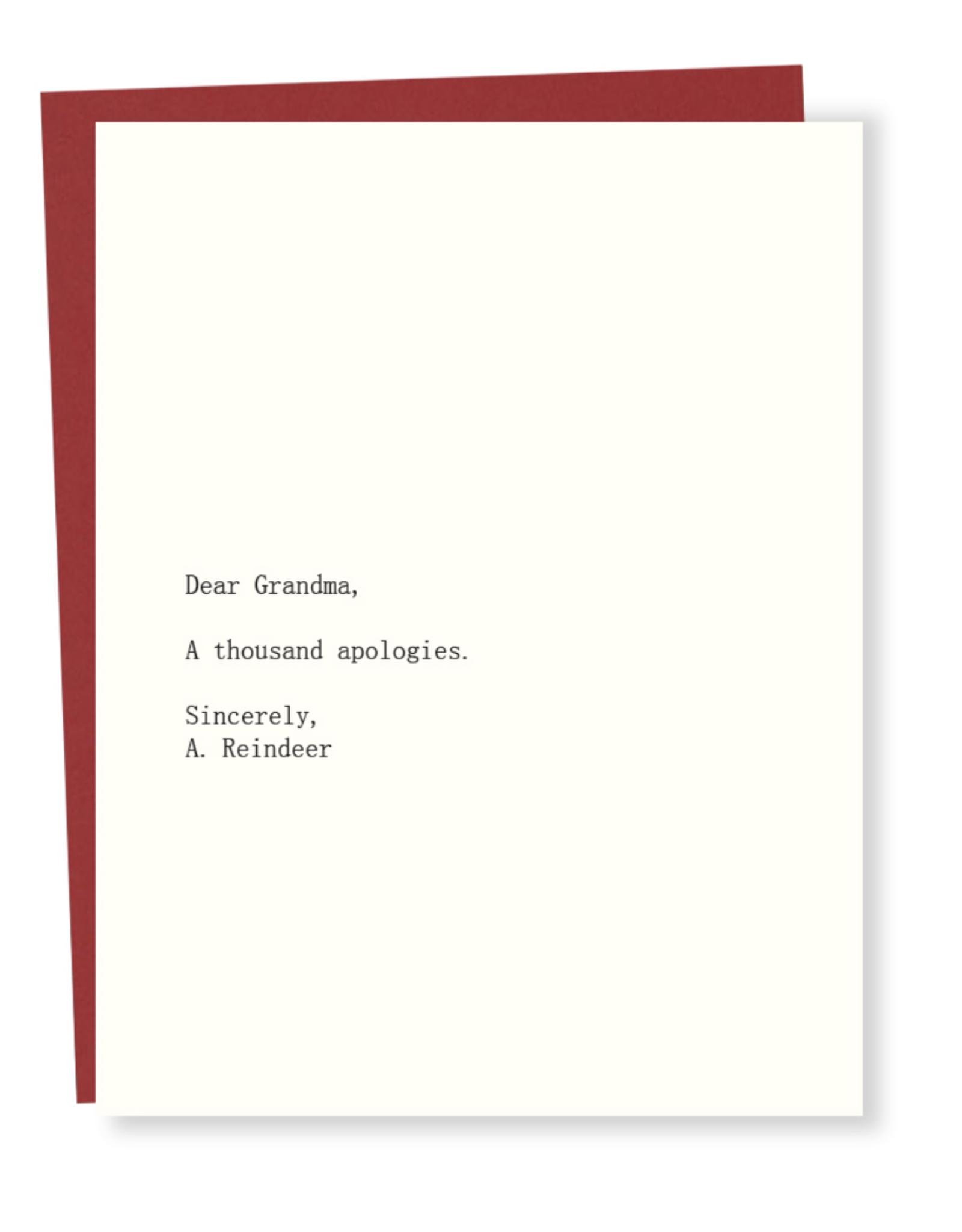Dear Grandma - A Thousand Apologies Greeting Card