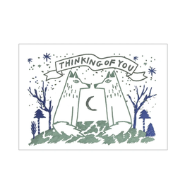 Thinking of You Wolf Love Greeting Card