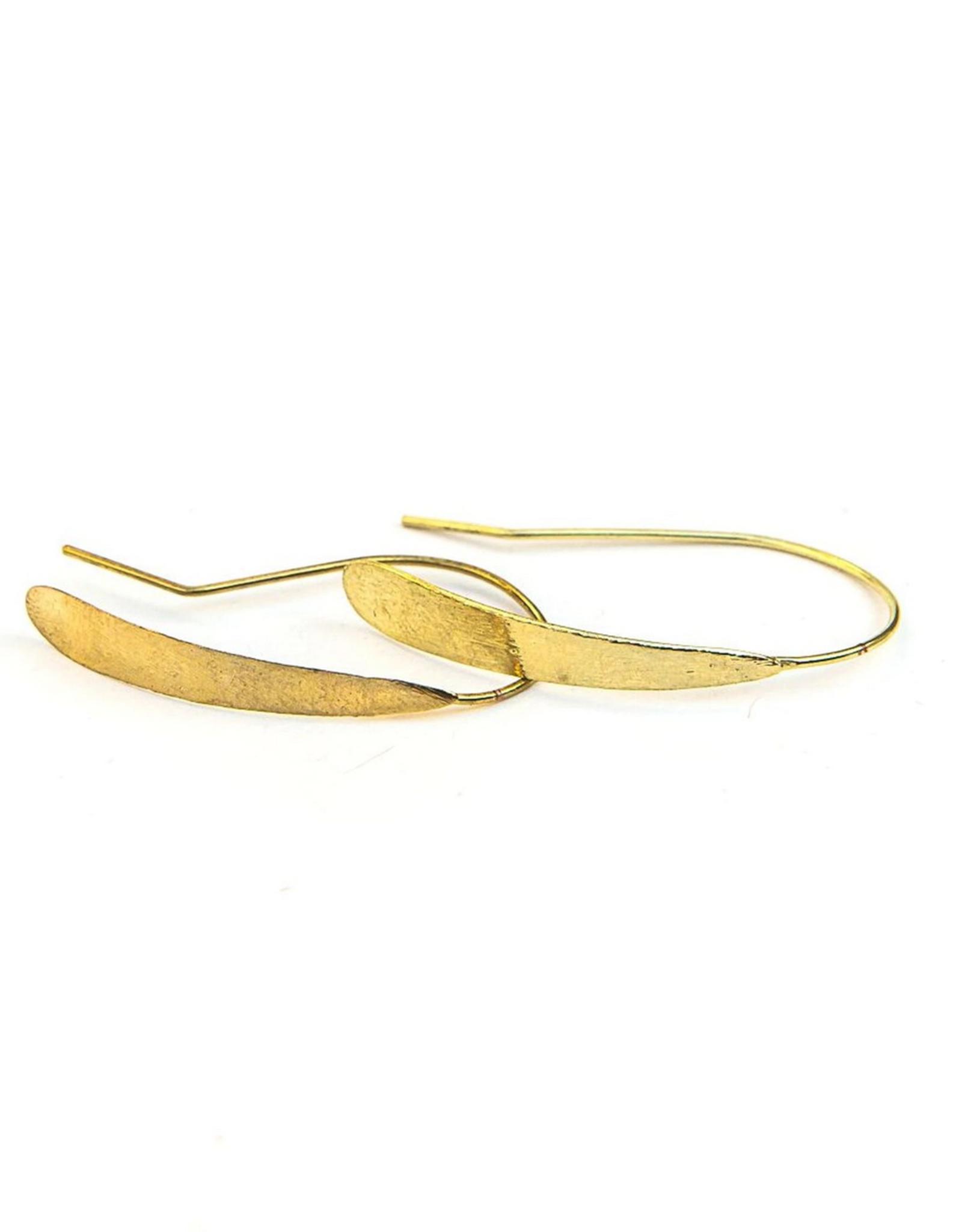 Faux Hoop Earrings (Silver or Brass!)