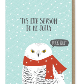 Fuck Jolly Owl Greeting Card
