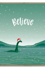 Believe Santa Nessie Greeting Card
