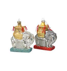 Glass Elephant Ornament