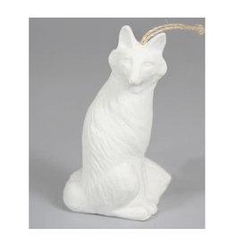 Bone China Fox Ornament
