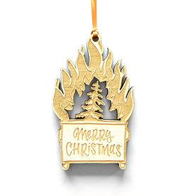 Merry Christmas Dumpster Fire Ornament