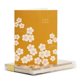 Gold Cherry Blossom Thank You Boxed Set