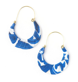 Upcycled Fabric Hoop Earrings