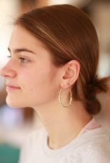 Beaded Hoop Earrings (Brass & Silver!)