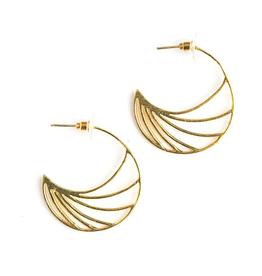 Tidal Wave Hoops Earrings