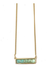 Multistone Bar Necklace - Apetite