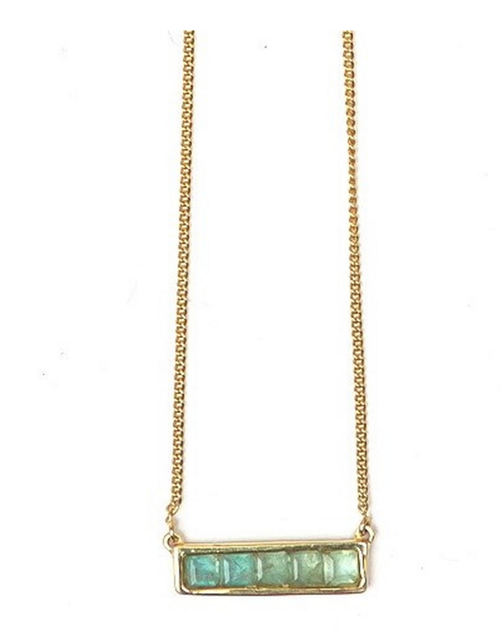 Multistone Bar Necklace - Apetite