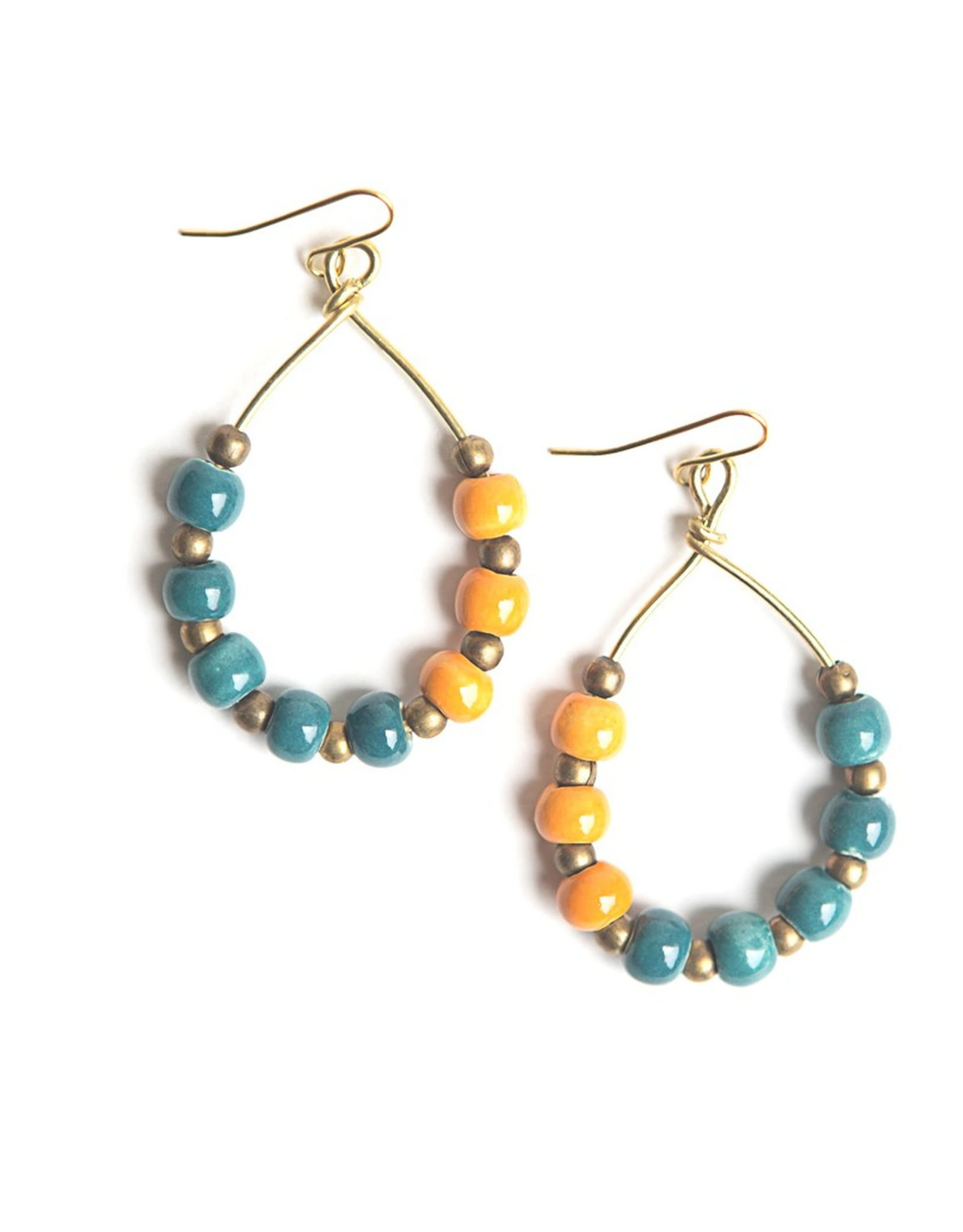 Color Pop Earrings - Teal & Orange
