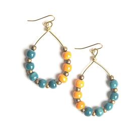 Color Pop Earrings - Teal & Orange