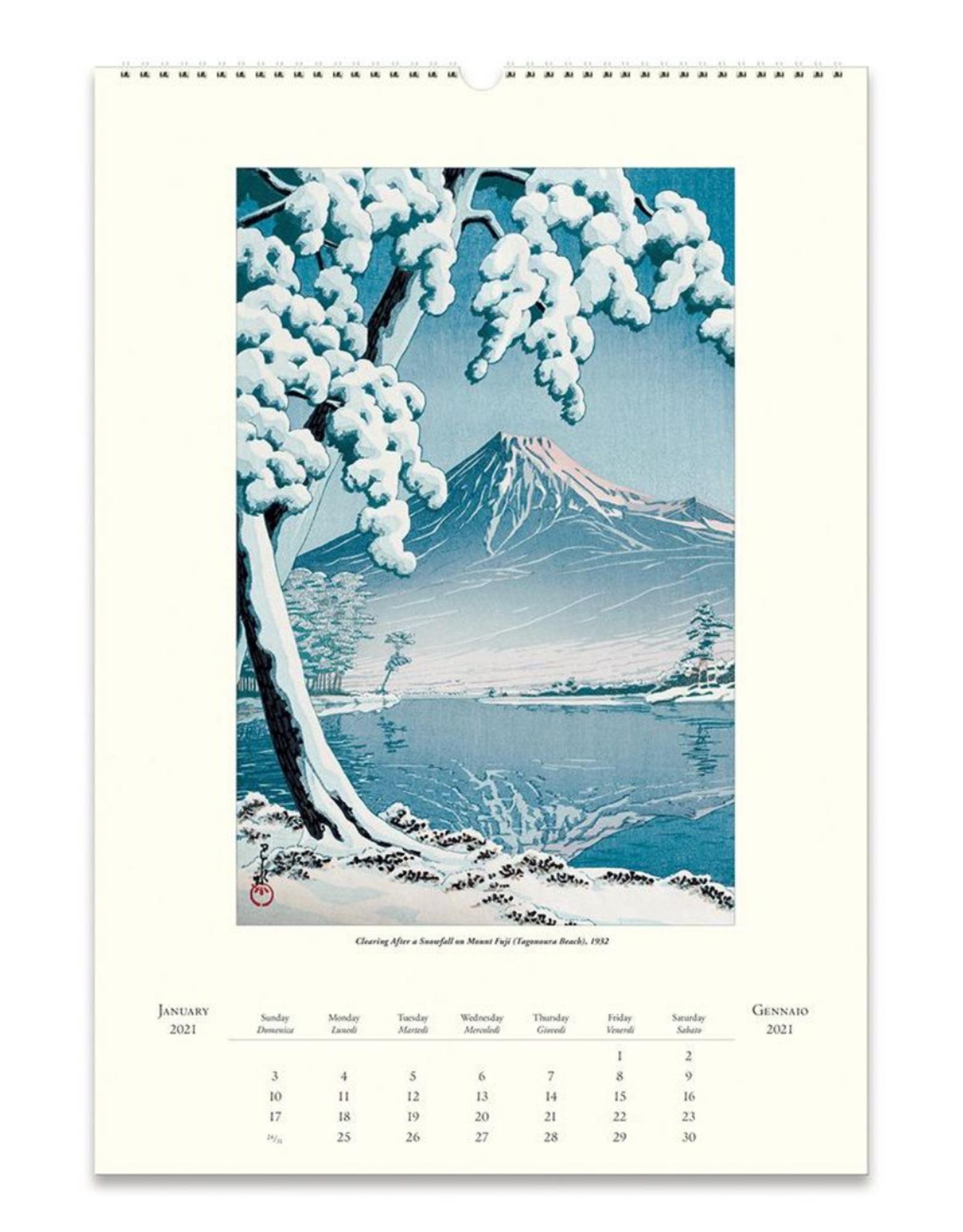 2021 Wall Calendar : Japanese Woodblock