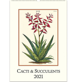 2021 Wall Calendar : Succulents