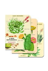 Mini Succulents Notebooks Set of 3