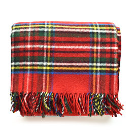Royal Carefree Stewart Throw - Red Plaid