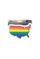 Rainbow USA Sticker