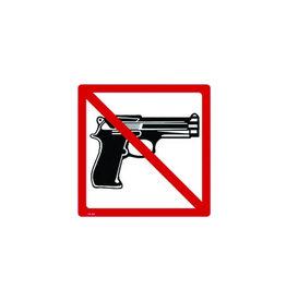No Guns Sticker