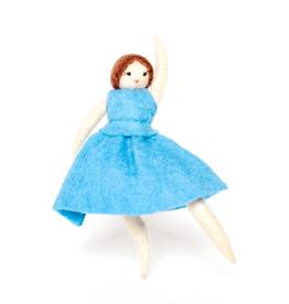 Blue Dress Ballerina Ornament