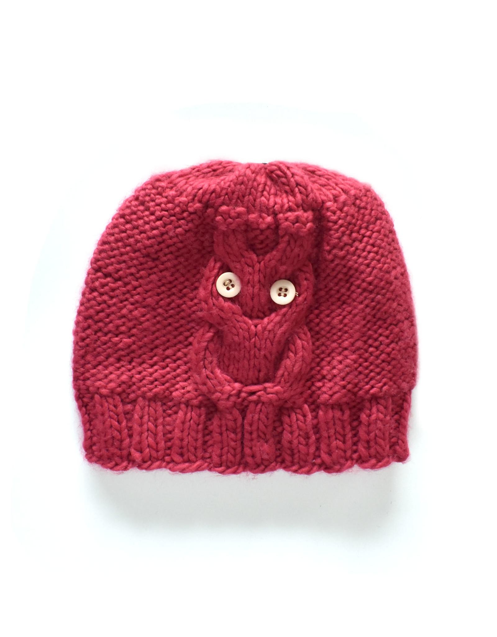 Raspberry Knit Beanie