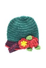 Kids Flower Beanie - Green