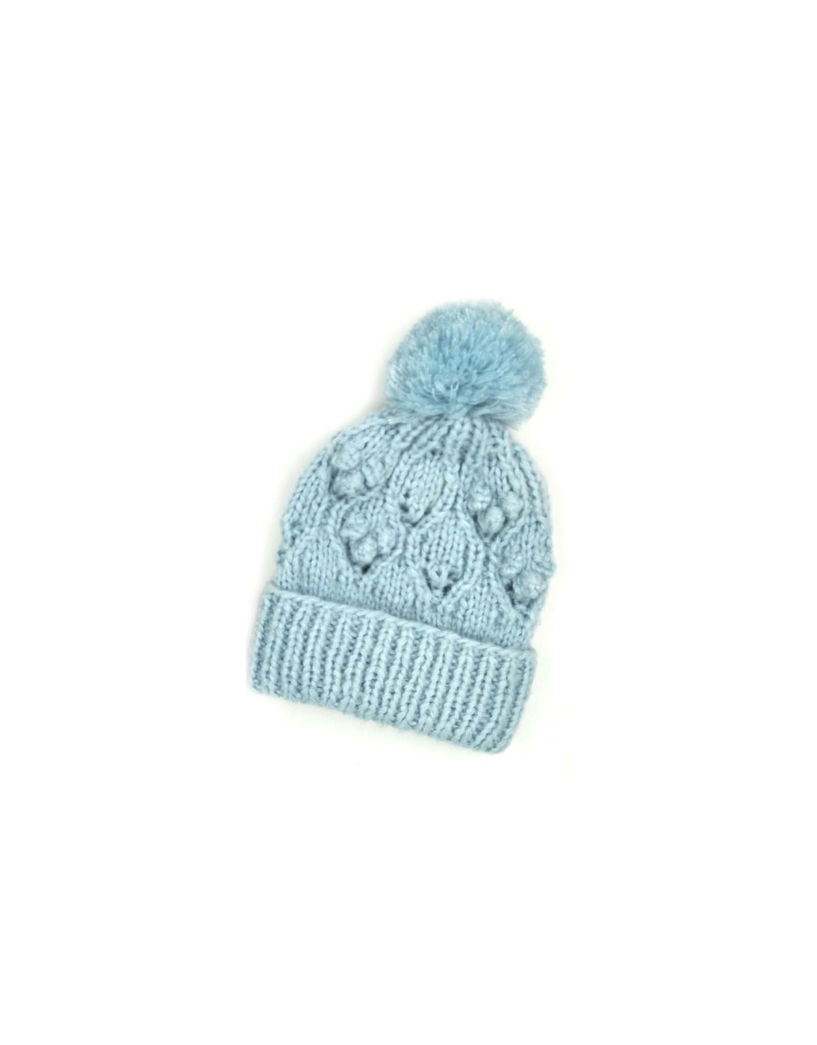 Chunky Bobble Pom Hat  (3 colors!)