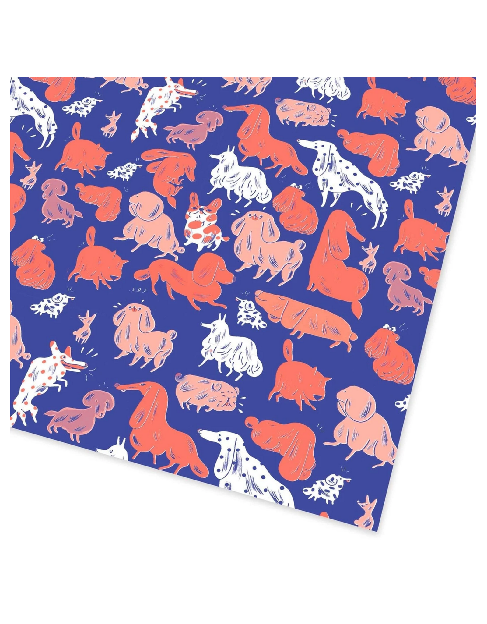 Dogs Flat Gift Wrap Sheet