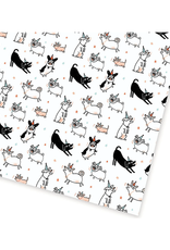 Party Dogs Flat Gift Wrap Sheet
