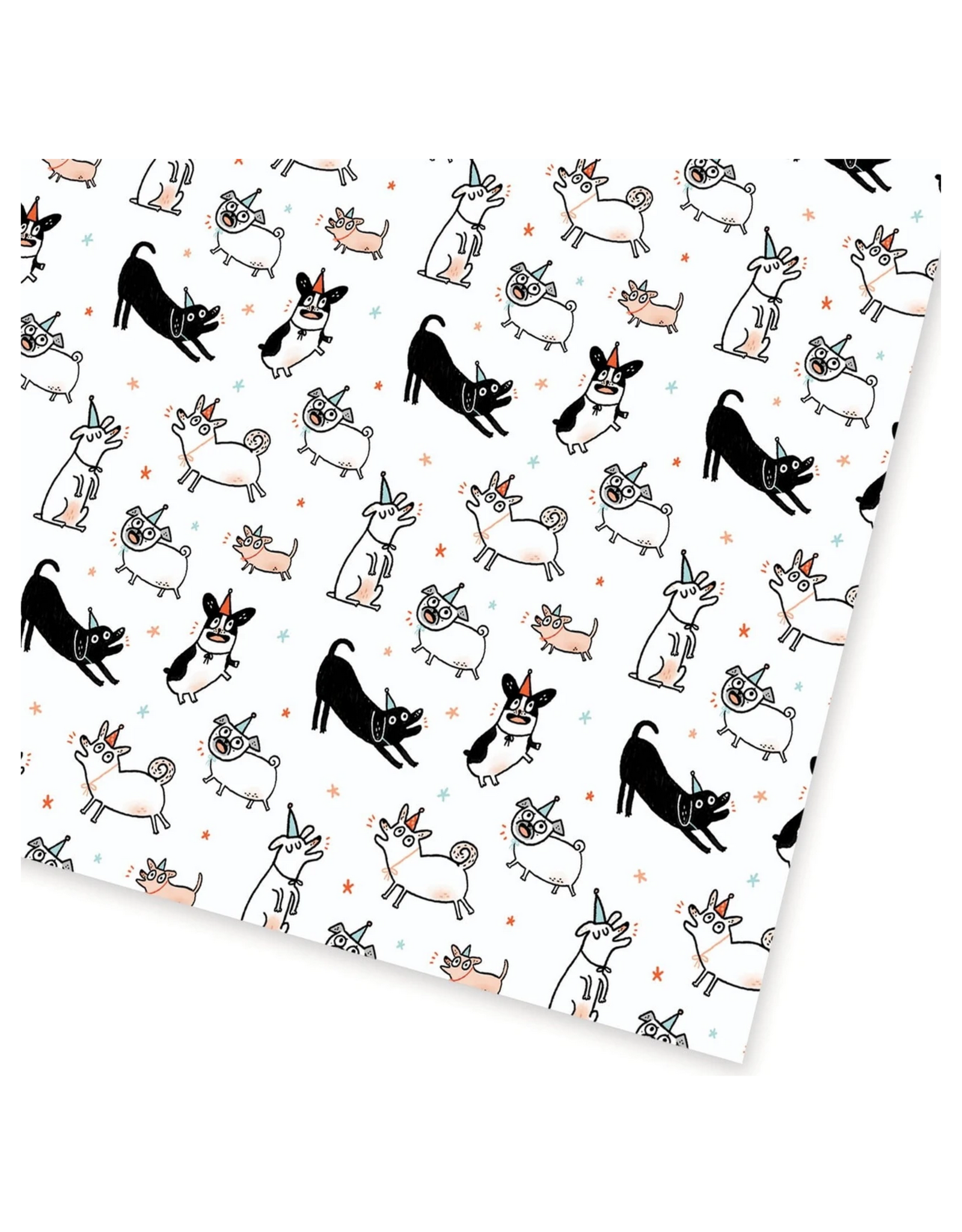Party Dogs Wrapping Paper (2 Sheets)