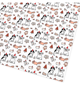 Party Time Flat Gift Wrap Sheet