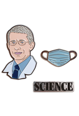 Dr. Anthony Fauci & Mask Pin Set
