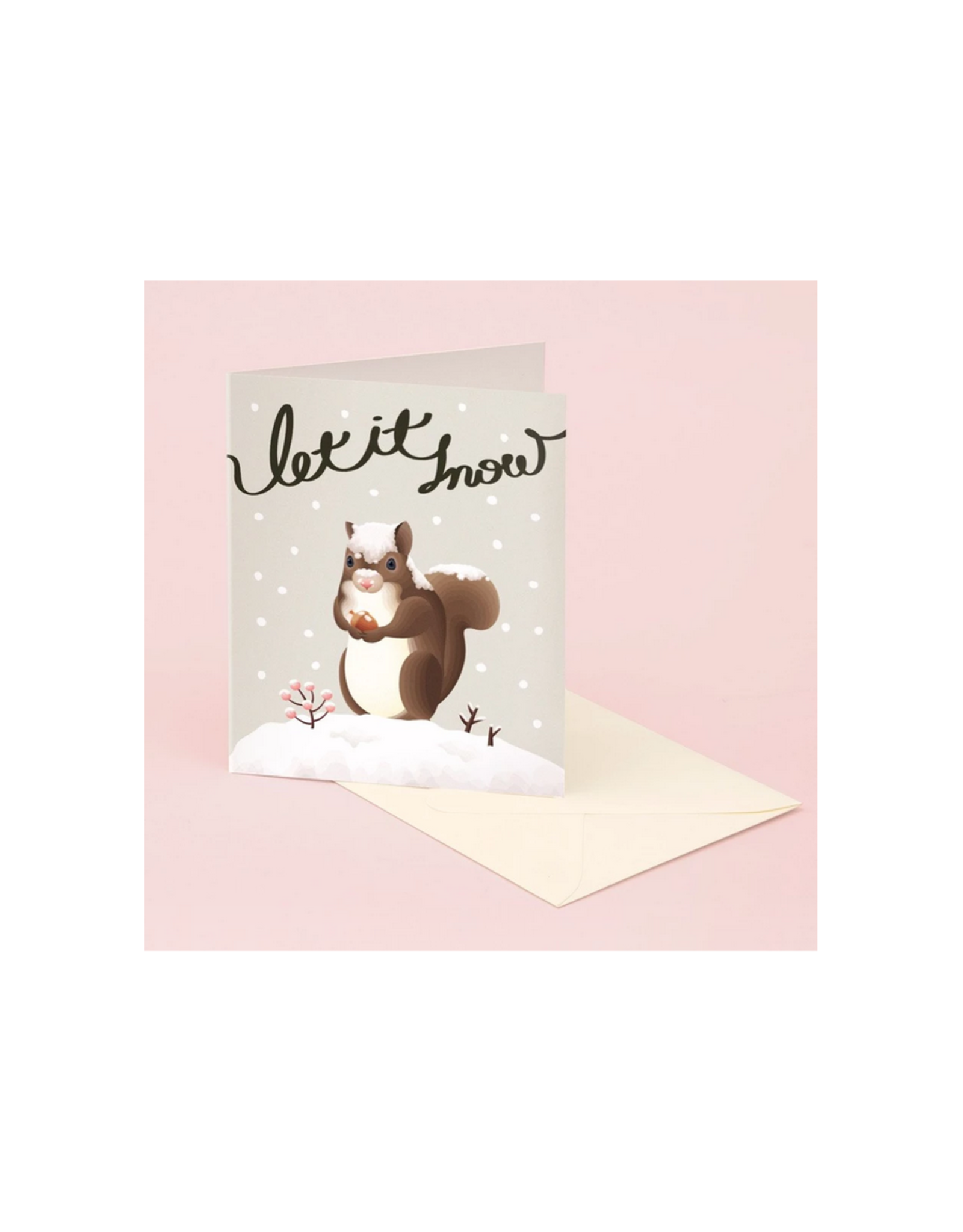 Let It Snow Squirrel Greeting Card
