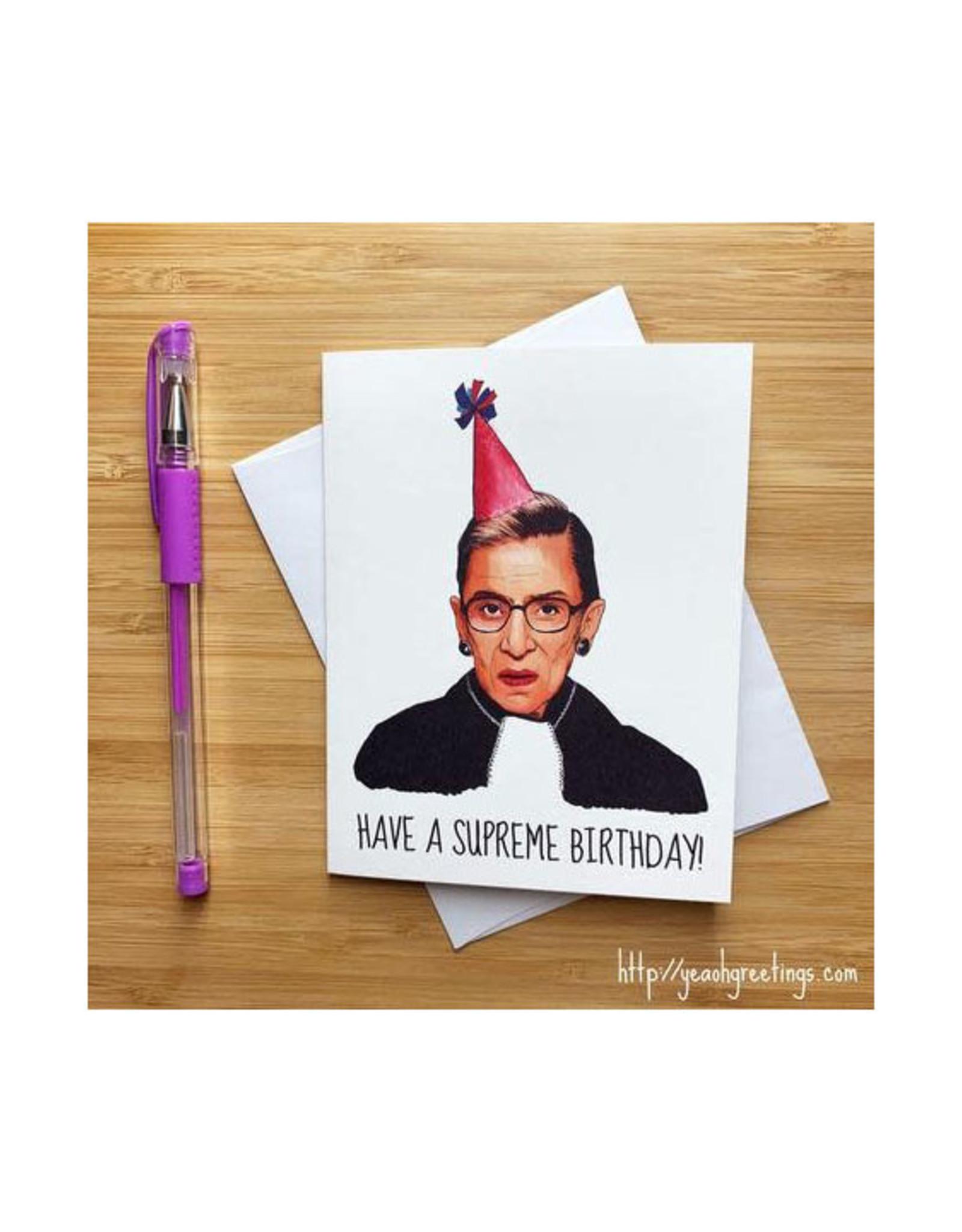 Ruth Bader Ginsburg Supreme Birthday Greeting Card