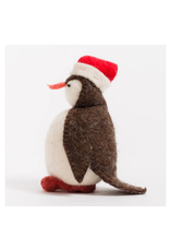 Penguin with Santa Hat Ornament