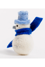 Winter's Star Snowman Ornament