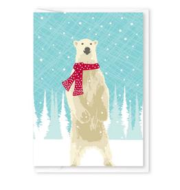 Polar Bear with Scarf Mini Card