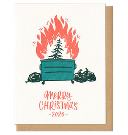 Dumpster Fire Christmas Greeting Card Boxed Set