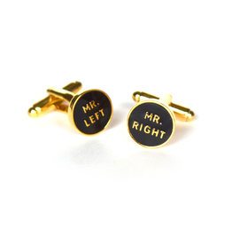 Cuff Links - Mr. Right and Mr. Left