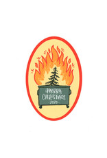 Merry Christmas Dumpster Fire Sticker