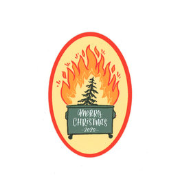 Merry Christmas Dumpster Fire Sticker