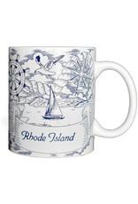 Rhode Island Nautical Sketch Mug