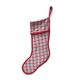 Dawson Houndstooth Red Stocking
