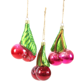 Orchard Cherrie Ornament (3 Assorted)